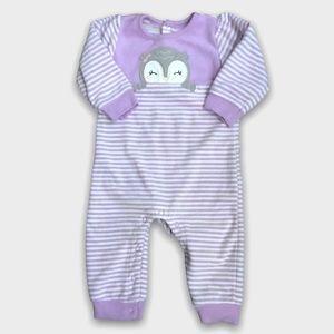 4/$20🥳 Purple Fleece Striped Print Sleeper
